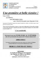 Tract « Une première et belle victoire ! » - Comité de défense des hôpitaux de Creil et de Senlis, 30 janvier 2019