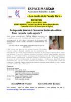31 janvier, Saint-Maximin - Espace Marx60-Conférence-débat « ESS », avec Sylvie Mayer
