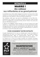 Flyer « Manifestation des retraité-e-s » - PCF Beauvaisis, 31 janvier 2019