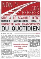 Tract « Non au CDG Express, priorité aux transports du quotidien ! » - Non au CDG Express, 8 février 2019