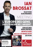 Flyer « Européennes 2019 - Meeting avec Ian Brossat, Marie-Hélène Bourlard et Loïc Pen » - PCF Oise, 20 mars 2019