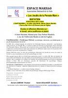 28 mars, Saint-Maximin - Espace Marx60-Conférence-débat « Le travail, entre souffrance et plaisir »