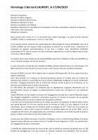 Hommage à Bernard Laurent, résistant fusillé au Mont-Valérien-Intervention de Thierry Aury - Agnetz, 17 avril 2019