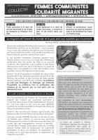 Tract « Le migrant est l'avenir du monde et la paix sera aux sociétés qui s'ouvriront » - Femmes Communistes Solidarité Migrantes, mai 2019