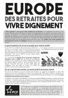 Tract « Europe : des retraites pour vivre dignement » - PCF Oise, 17 mai 2019