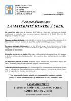 15 juin, Creil - Comité de défense-Manifestation et pique-nique géant