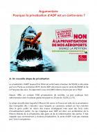Argumentaire « Pourquoi la privatisation d'ADP est un contre-sens ? » - PCF, juin 2019