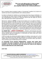 Pour une vraie démocratie, la mise en place d'une autorité indépendante chargée des enquêtes relatives aux violences policières ! - Oise, 27 août 2019