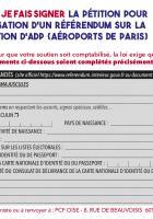 Pétition pour l'organisation d'un référendum sur la privatisation d'ADP (version 2) - PCF Oise, septembre 2019