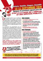 11 septembre, Paris - Journée d'action nationale « Stop à la casse de l'hôpital et des services publics ! »