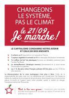 Flyer « Changeons le sytème, pas le climat : le 21/09, je marche ! » - PCF Beauvaisis, 21 septembre 2019