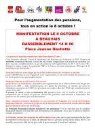 8 octobre, France - Journée de mobilisation pour les retraites