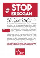 Flyer « #Stop Erdogan » - PCF Oise, 11 octobre 2019