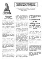11 novembre, Creil - ALAMPaC-Rassemblement contre la guerre et pour la réhabilitation des fusillés pour l'exemple