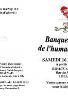 Invitation au banquet-soirée de l'humain d'abord - Beauvais, 16 novembre 2019
