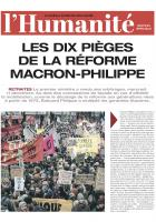 Les dix pièges de la réforme Macron-Philippe - L'Humanité, édition spéciale, décembre 2019