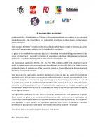 Communiqué « 36 jours sans trêve, on continue » - Intersyndicale, 9 janvier 2020