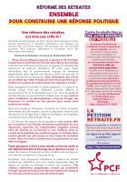 Tract « Retraites : ensemble pour construire une réponse politique » - PCF Oise, 9 janvier 2020