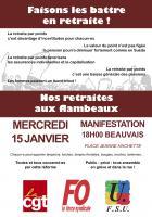 15 janvier, Beauvais - Manifestation « Nos retraites aux flambeaux »