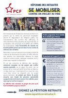 Flyer « Réforme des retraites, se mobiliser contre le projet du pire - Le 15 mars prochain, élections municipales et communautaires » - PCF Montataire, 25 janvier 2020