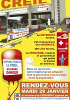 28 janvier, Creil - Comité de défense de l'hôpital-Événement pour sauver notre hôpital