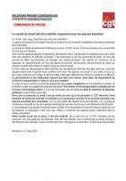 Le monde du travail doit être mobilisé uniquement pour les besoins essentiels - CGT, 17 mars 2020