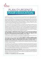 Un plan d'urgence pour l'éducation - Réseau École du PCF, avril 2020