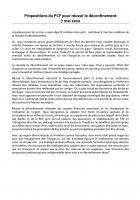 Propositions du PCF pour réussir le déconfinement - 7 mai 2020