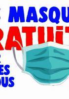 Cinq affichettes « Exigeons la gratuité des masques » - PCF Oise, 14 mai 2020