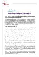 Lettre ouverte de Fabien Roussel et Marine Roussillon : « Alerte : l'école publique en danger » - 18 mai 2020