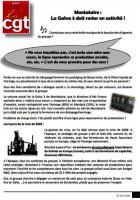 Tract « Montataire : la Galva 3 doit rester en activité ! » - CGT AMF, 4 juin 2020