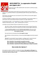 Tract « ArcelorMittal : la suppression d'emploi pour gagner plus » - CGT ArcelorMittal Montataire, 4 juin 2020