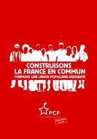 Projet « Construisons la France en commun, formons une union populaire agissante »