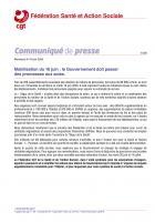 Communiqué « Mobilisation du 16 juin : le gouvernement doit passer des promesses aux actes » - CGT Santé et Action sociale, 16 juin 2020