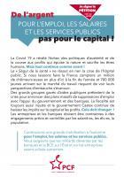 Flyer « De l'argent pour l'emploi, les salaires, les services publics, pas pour le capital ! » - PCF Oise, 22 août 2020