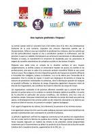 Communiqué « Une rupture profonde s'impose » - CGT, FSU, Solidaires, Fidl, MNL, Unef, UNL, 27 août 2020