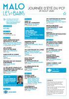 Programme de la Journée d'été du PCF -  29 août 2020