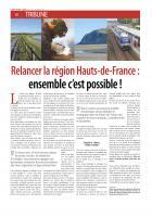 Relancer la région des Hauts-de-France : ensemble c'est possible !