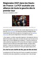 20200926-20Min-Hauts-de-France-Régionales 2021 : le PCF souhaite une alliance de toute la gauche dès le premier tour