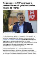 20200926-F3 Hauts-de-France-Régionales 2021 : le PCF approuve le rassemblement à gauche dans les Hauts-de-France