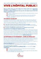 Flyer « Aujourd'hui plus que jamais, vive l'hôpital public » - PCF Beauvaisis, 9 octobre 2020