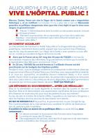 Flyer « Aujourd'hui plus que jamais, vive l'hôpital public » - PCF Oise, 23 octobre 2020