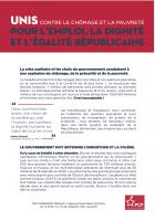 Tract « Unis contre le chômage et la pauvreté, pour l'emploi, la dignité et l'égalité républicaine - PCF, 1er décembre 2020
