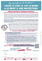 Tract « Pas de profit sur la pandémie ! Tout le monde a le droit à une protection ! » - PCF Beauvaisis, 8 janvier 2021