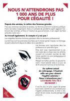 Flyer « Nous n'attendrons pas 1 000 ans de plus pour l'égalité » - PCF, 8 mars 2021