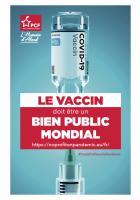 Flyer « Le vaccin doit être un bien public mondial » - PCF Oise, 10 mars 2021
