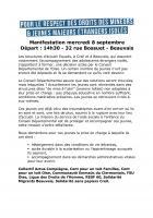 8 septembre, Beauvais - Manifestation pour la prise en charge des mineurs non accompagnés