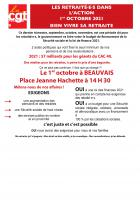 1er octobre, Beauvais - Journée d'action des retraité·e·s