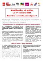 Tract unitaire « Mobilisation et action le 1er octobre 2021 : bien vivre sa retraite, une exigence ! » - Organisations de retraité·e·s, 1er octobre 2021