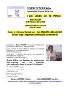 7 octobre, Saint-Maximin - Espace Marx60-Conférence-débat « États-Unis » avec Bruno Odent
